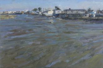 Houseboats at Shoreham, High Tide